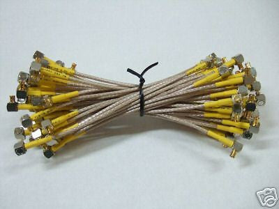 50x MCX M to MCX M RF Flexible Braided Cable 6'' RG-79