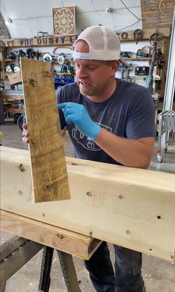 Replicating mother nature's treatment on barnwood