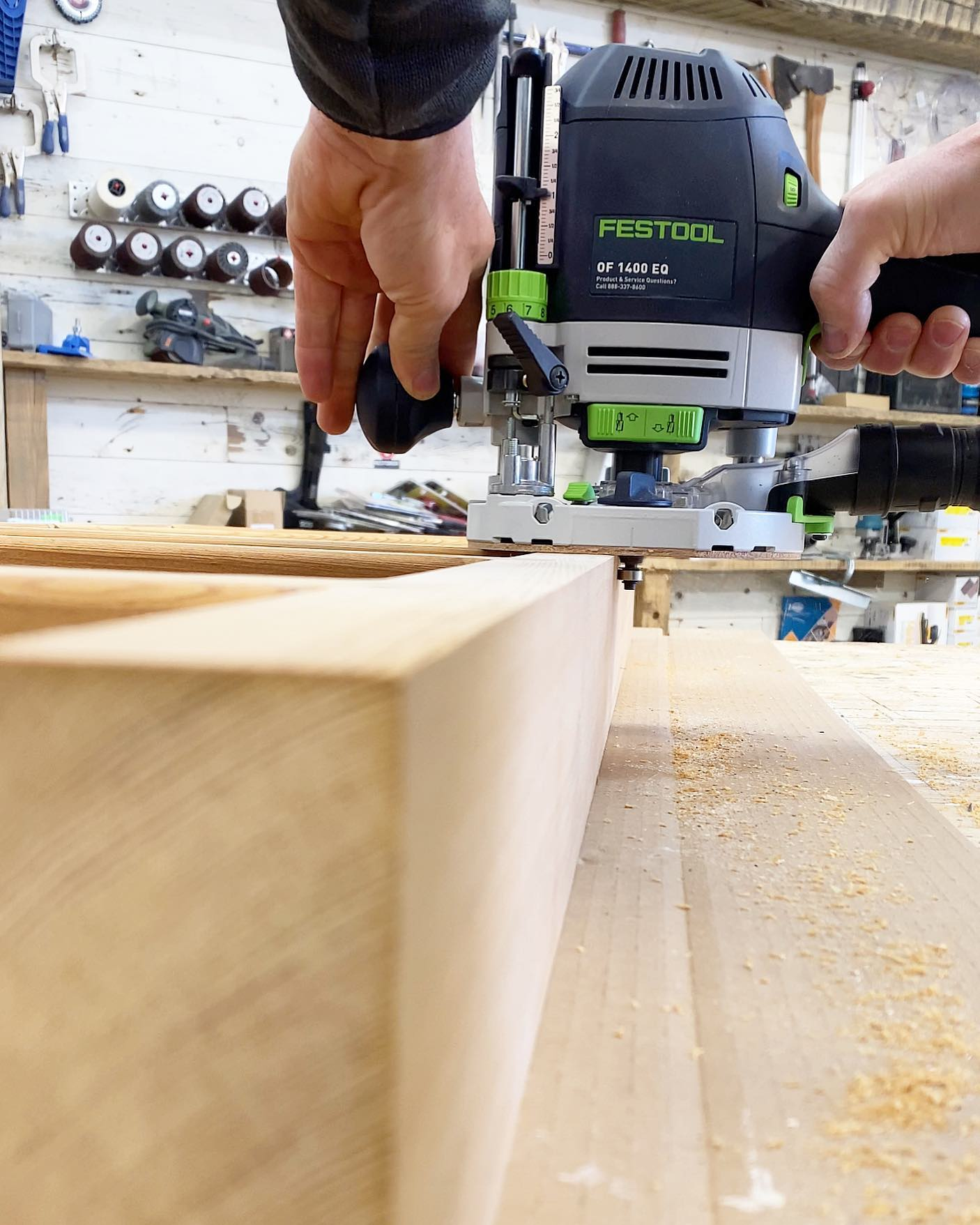 Festool router in action