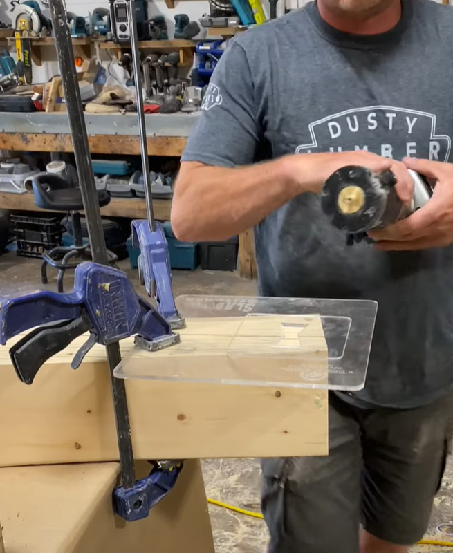 Slabstitcher with clamps and router