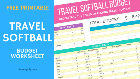 Free Travel Softball Budget Worksheet
