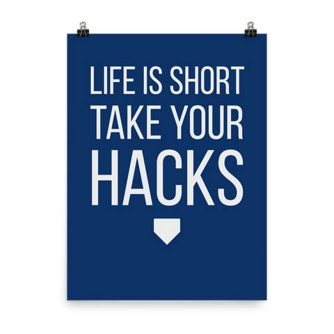 "TAKE YOUR HACKS POSTER: Blue / 18"" x 24"" - Nine Supply Co. - 1"