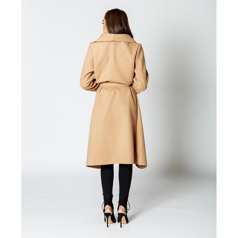 Waterfall Collar Trench Coat