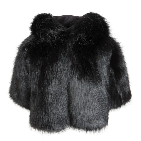 Aliaia Faux Fur Cape