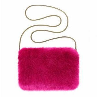 Beverly Faux Fur Chain Purse