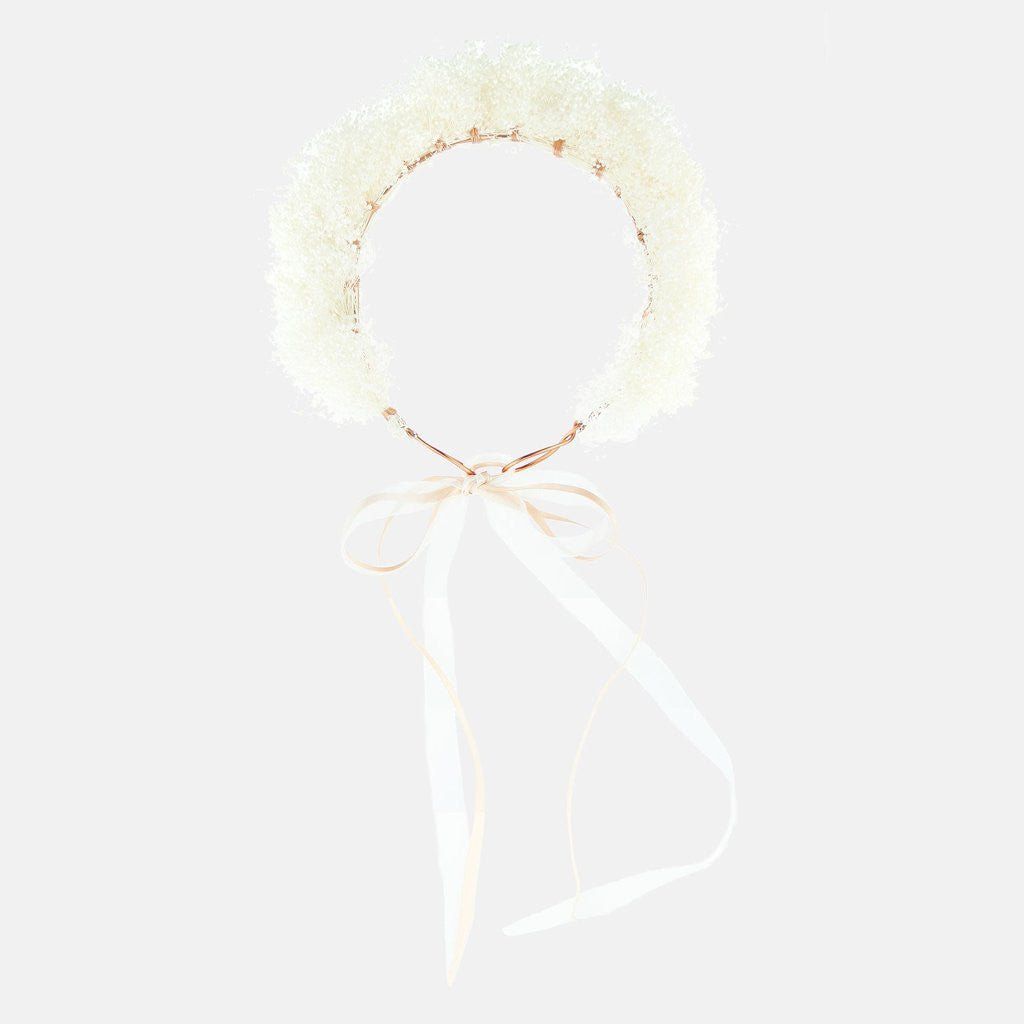 Honey Dried Gypsophila Flower Crown
