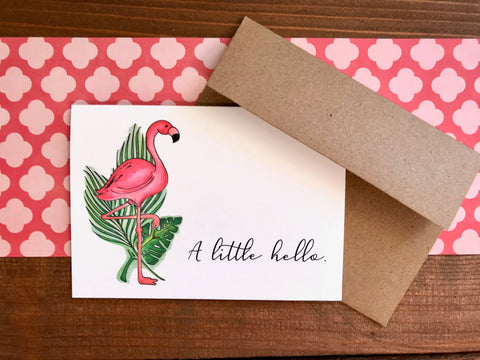 flamingo on note cards