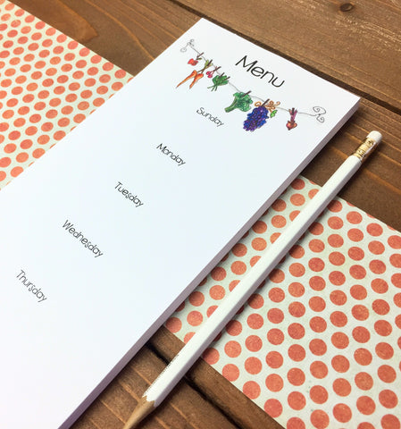 weekly menu planning notepad magnetic