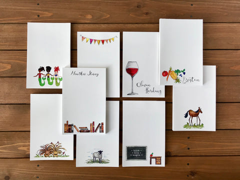 Illustrated and Personalized Notepads