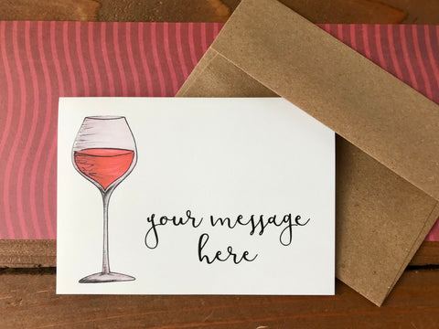 wine note cards