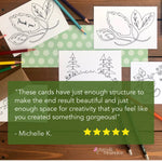 Color Your Own Notecards - Assorted Set of 8 Coloring Cards