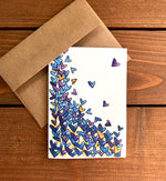 Tumbling Hearts Note Cards | Choose Your Message - Boxed Set of 8