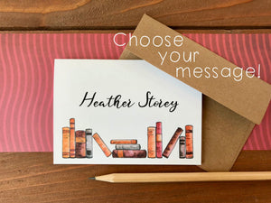 Book  Cards, Choose Your Message - Boxed Set of 8