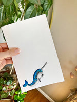 Narwhal Notepad  - Personalization Available