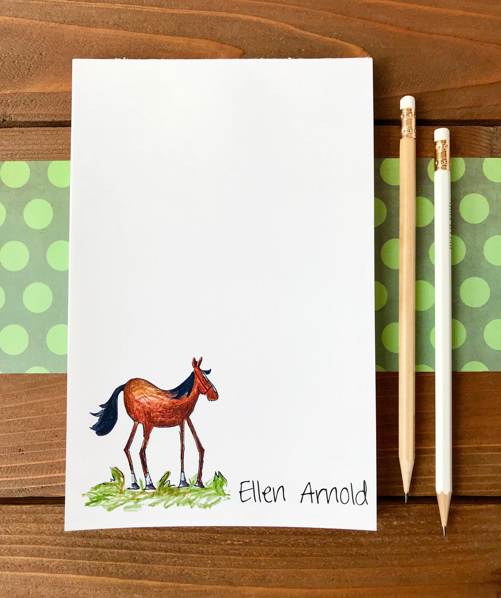 Horse Notepad - Personalization Available