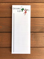 Skinny Grocery List Magnetic Notepad | Personalization Optional | 52 Sheets