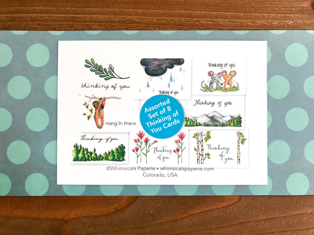 Assorted Thinking of You Cards - Boxed Set of 8 1