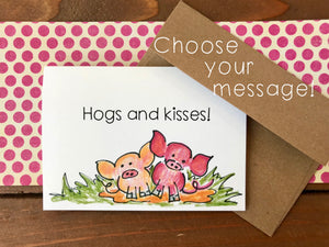Pig Cards, Choose Your Message - Boxed Set of 8