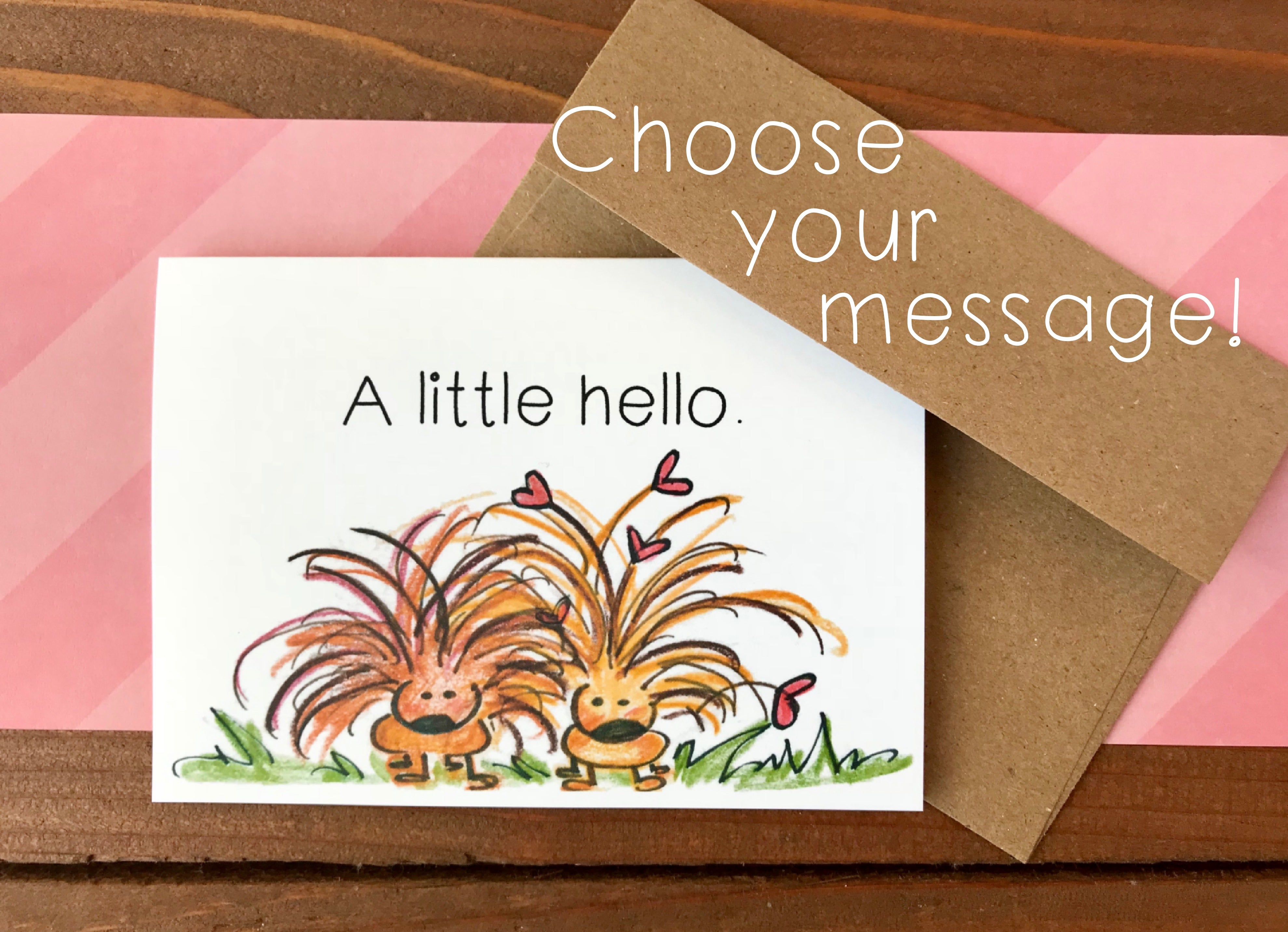 Porcupine Cards, Choose Your Message - Boxed Set of 8