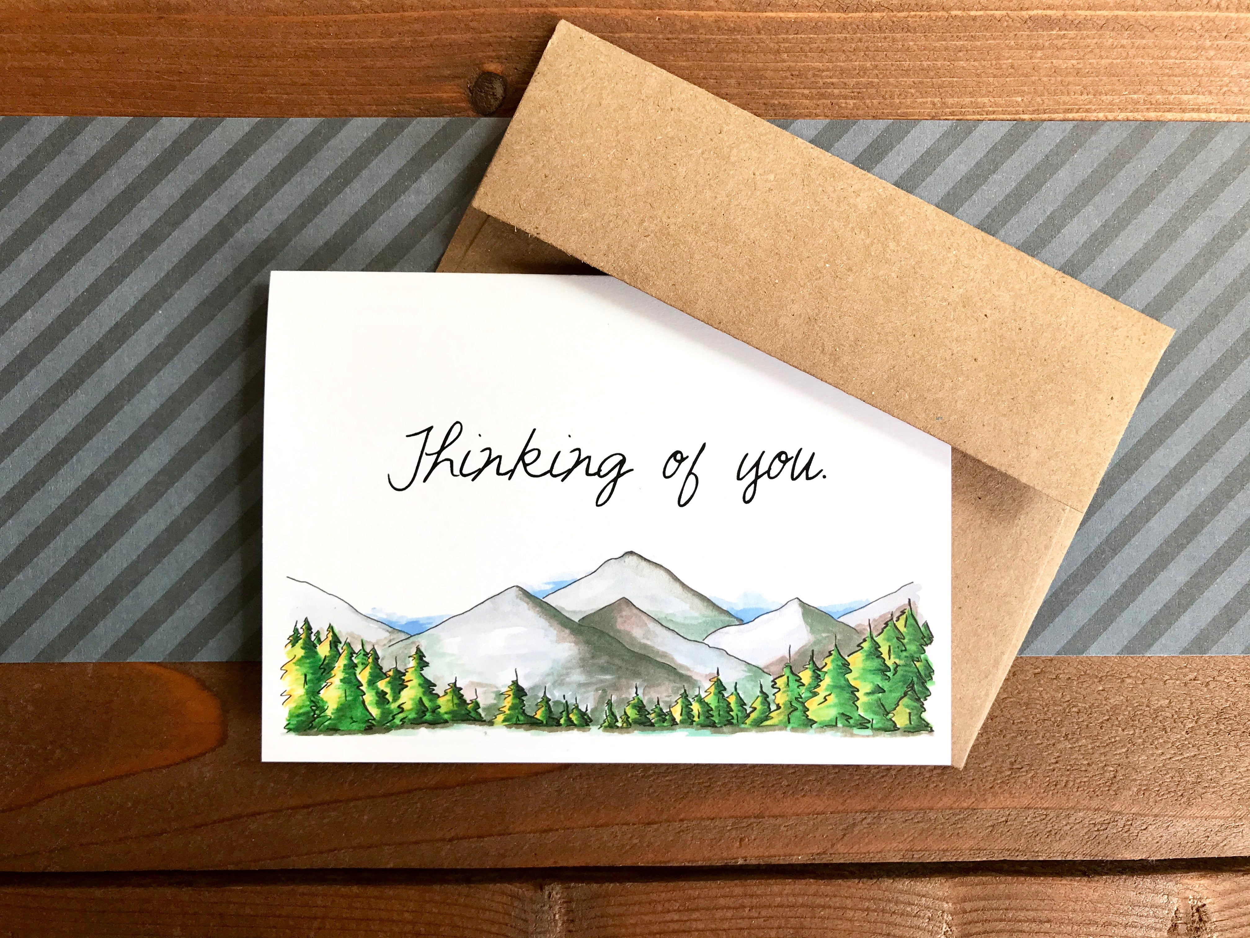 Mountain Cards, Choose Your Message - Boxed Set of 8