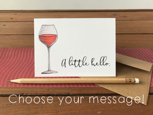 Wine Cards, Choose Your Message - Boxed Set of 8