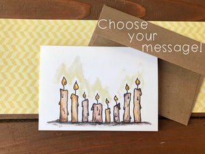 Candle  Cards, Choose Your Message - Boxed Set of 8
