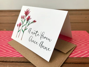 Personalized Indian Paintbrush Cards