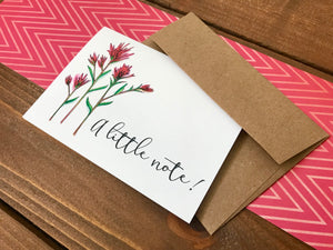 Indian Paintbrush Cards - Just Because Cards