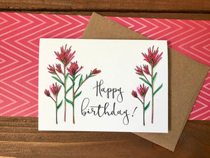 Indian Paintbrush Birthday Cards