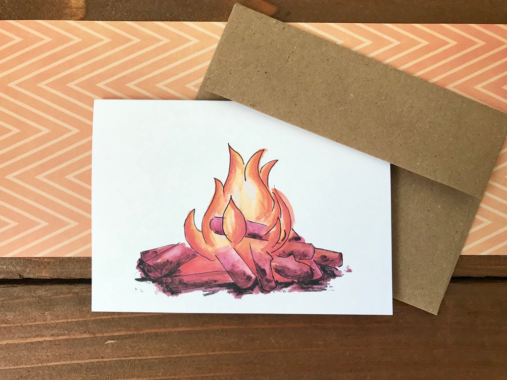 Illustrated Campfire Cards