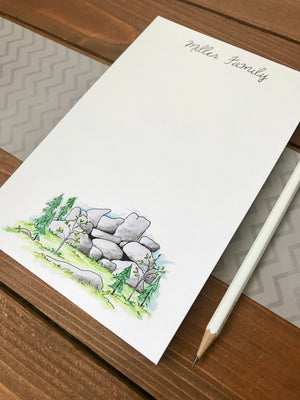 Rockpile Landscape Notepad (Vedauwoo, WY) - Personalization Available