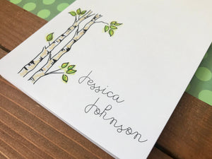 Personalized Aspen Tree Notepad