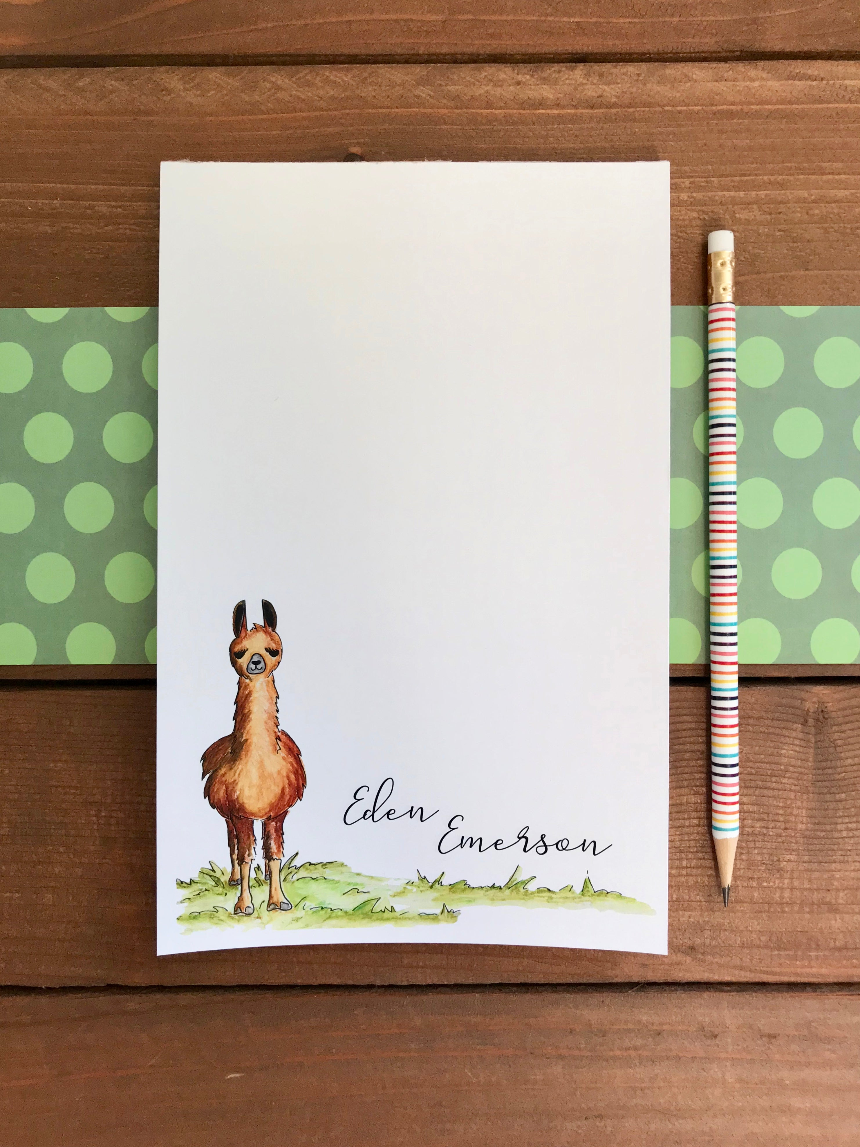 Llama Notepad  - Personalization Available