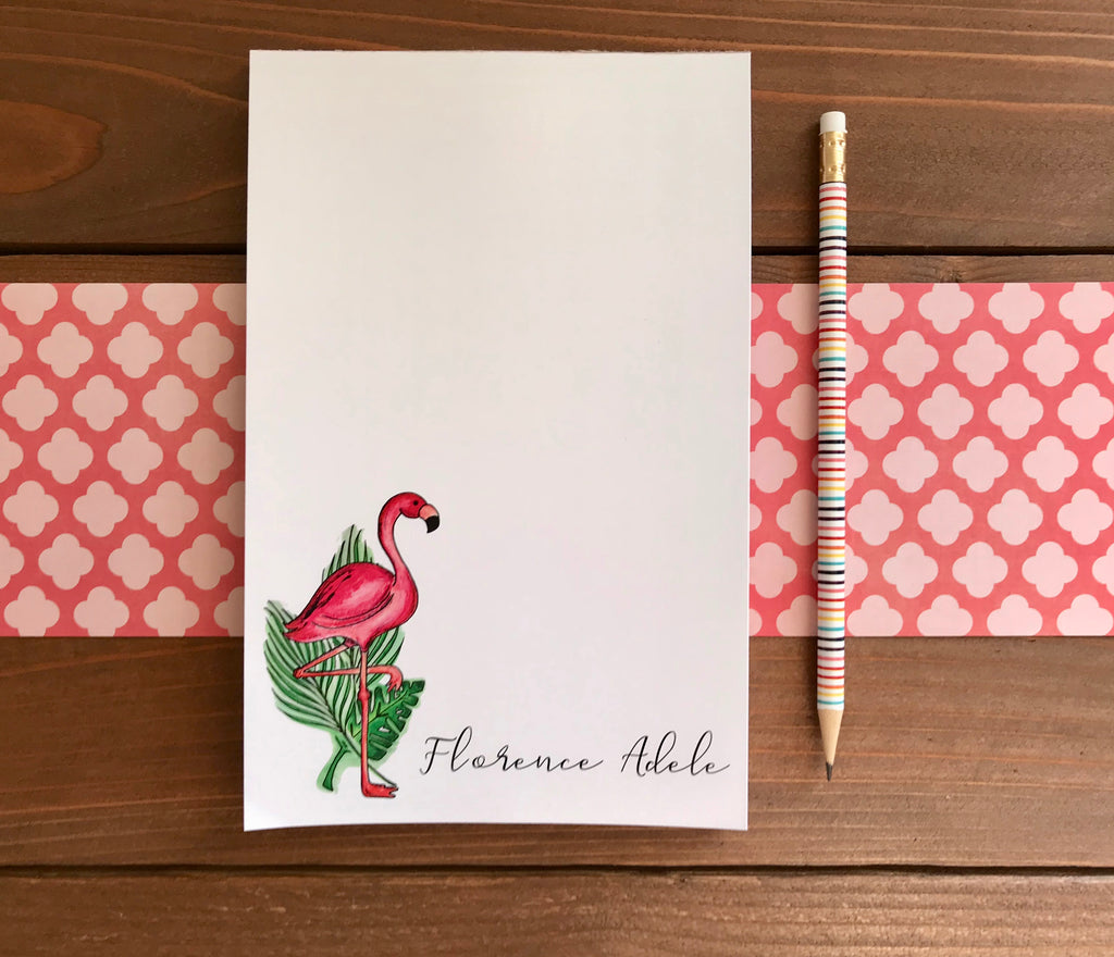 Flamingo Notepad  - Personalization Available