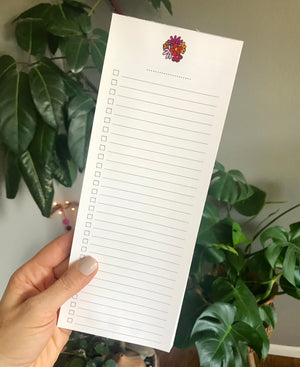Flower Bouquet Double Sided To Do List Magnetic Notepad
