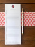Flower Bouquet To Do List Notepad - Magnetic | Double Sided Sheets | Personalization Available