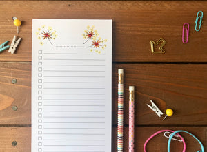 Sparkler Double Sided To Do List Magnetic Notepad