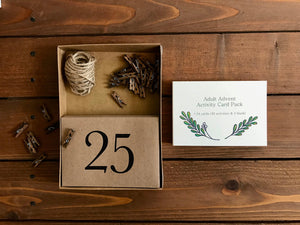 Adult Wall Hanging Advent Calendar Kit