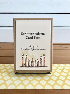 Tabletop Scripture Advent Calendar Boxed Set with Stand