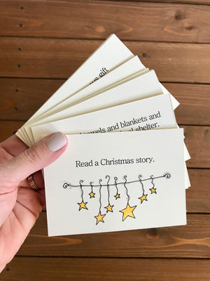 Family Advent Calendar Activity Cards - Boxed Set with Metal Stand