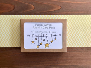 Family Advent Calendar Card Deck - Pack of 34 Activity Cards