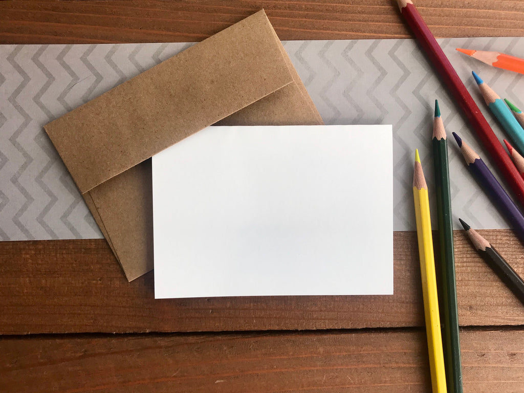 Draw Your Own Notecards - Set of 8 Blank Cards and Envelopes