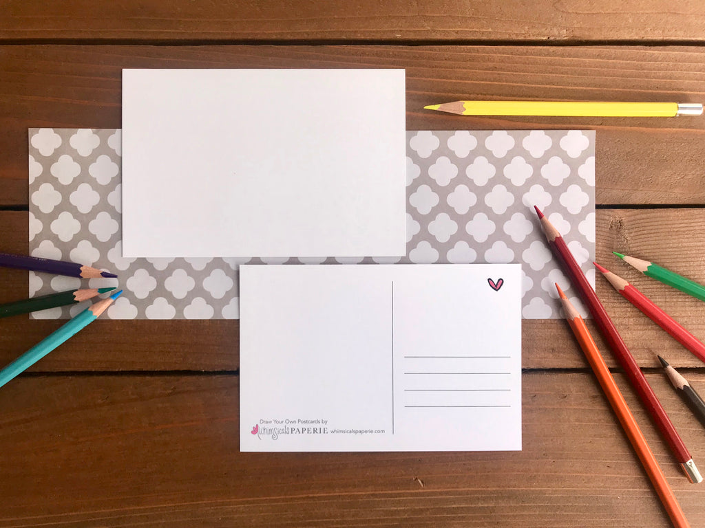 Draw Your Own Postcards - Set of 8 Blank Cards