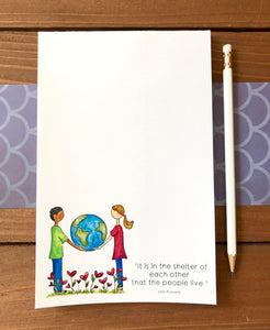 'Shelter of Each Other' Illustrated Special Edition Notepad