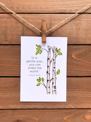 'Shake the World' 5x7 Decorative Flat Magnet