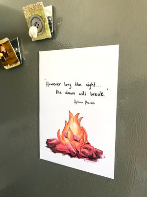 'Dawn Will Break' 5x7 Decorative Flat Magnet