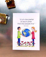 'Shelter of Each Other' 5x7 Decorative Flat Magnet