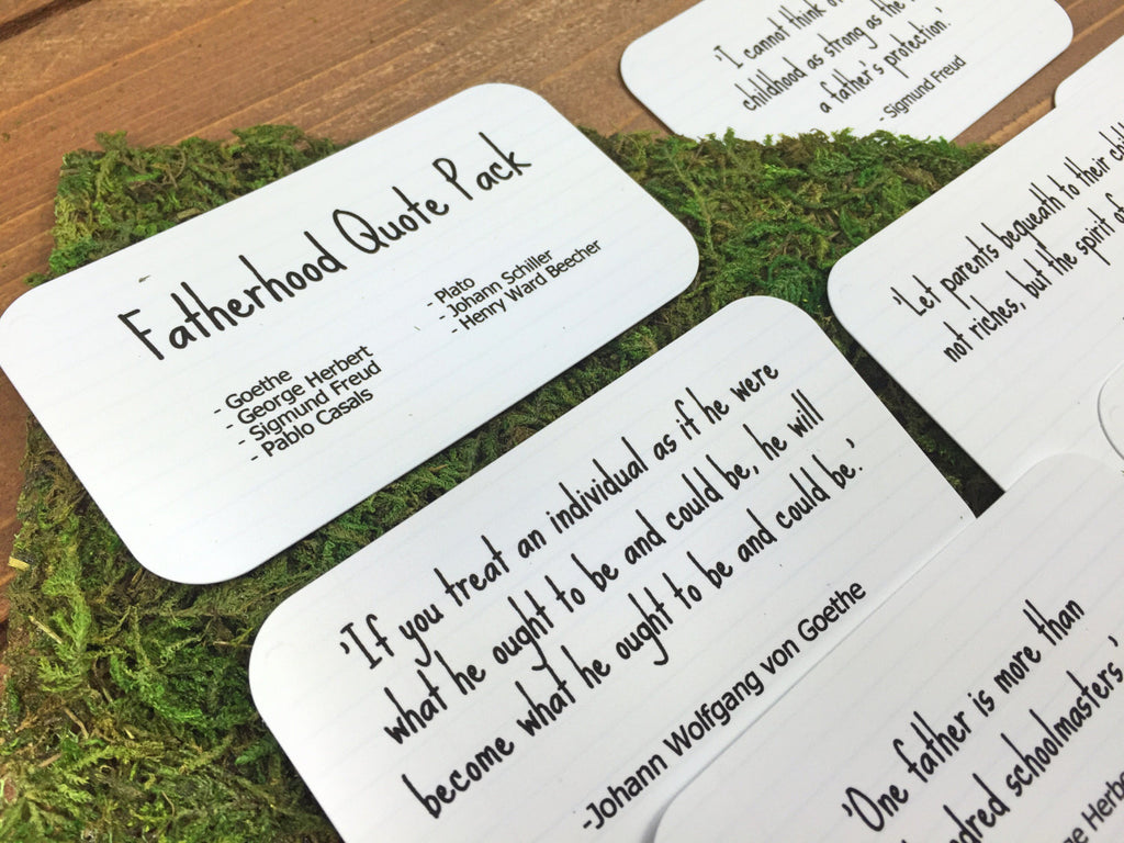 Quotes for Dad, New Dad Gift, Gifts for Dad, Fathers Day Gift, Dad Birthday Gift, Dad Gifts, Father of Bride Gift, Set of 8 Mini Quote Cards