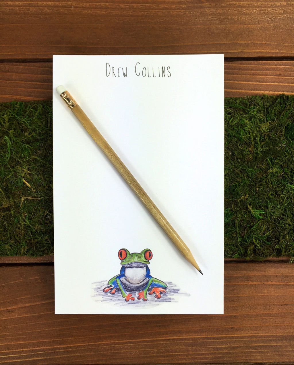 Tree Frog Notepad - Personalization Available
