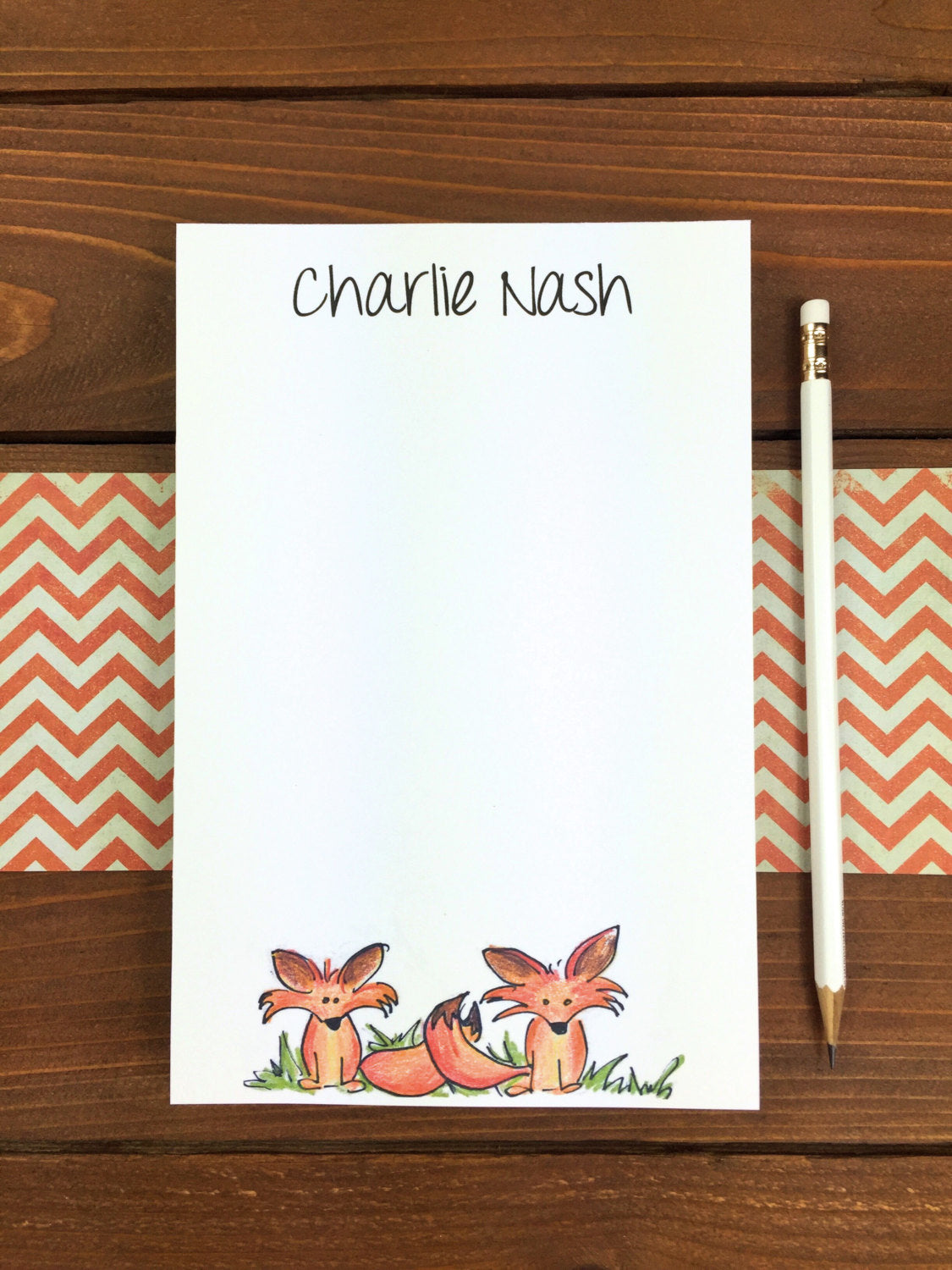 Fox Notepad - Personalization Available